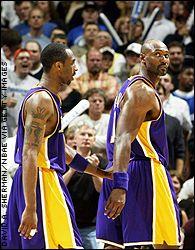Kobe Bryant and Karl Malone