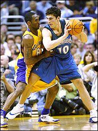 Kobe Bryant and Wally Szczerbiak