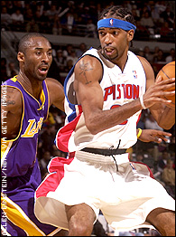 Kobe Bryant and Richard Hamilton