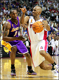 Kobe Bryant and Chauncey Billups
