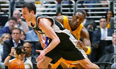 Manu Ginobili and Kobe Bryant