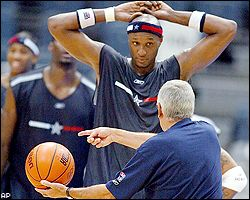 Lamar Odom and Larry Brown