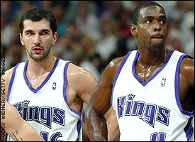 Peja Stojakovic and Chris Webber