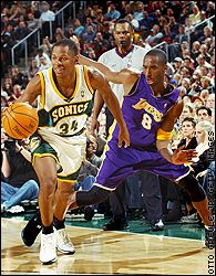 Ray Allen (34) and Kobe Bryant (8)