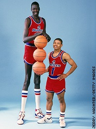 Muggsy Bogues and Manute Bol