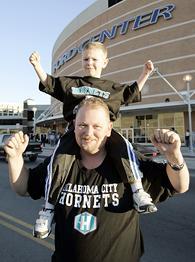 Oklahoma City Hornets fans