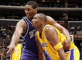 Ron Artest and Kobe Bryant