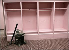 Iowa visitor's locker room
