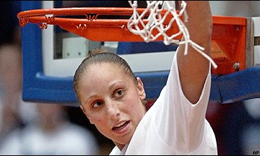 Diana Taurasi and UConn are two wins away from repeating as national champs.
