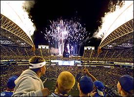 Seattle Seahawks fireworks