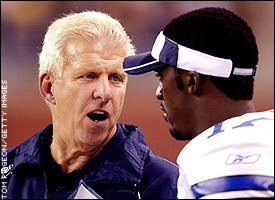 Bill Parcells and Quincy Carter