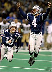 Adam Vinatieri's performance in Super Bowl XXXVI bought him a lifetime