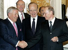Robert Kraft and Vladimir Putin