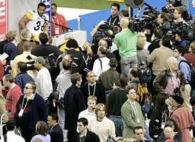 Jerome Bettis at Media Day