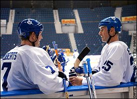 Gary Roberts and Joe Nieuwendyk