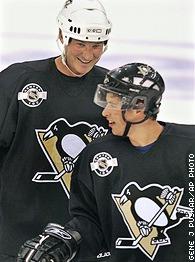 Mario Lemieux and Sidney Crosby