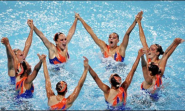 Russia's synchronized swimming team
