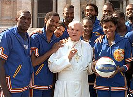 Pope John Paul II and Globetrotters