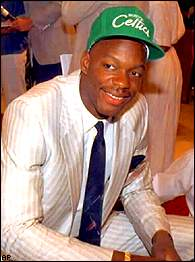 76bdc563295 Has anyone ever looked happier than Len Bias on Draft Day 1986