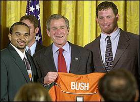 George W. Bush, Miami football team