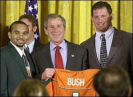 George W. Bush, Miami football team
