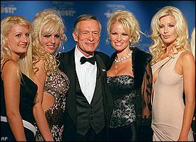 Hugh Hefner and girlfriends