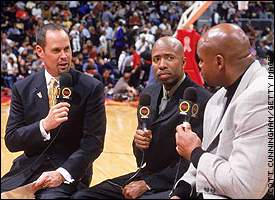 Kenny Smith, Ernie Johnson and Charles Barkley