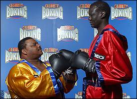 Refrigerator Perry and Manute Bol