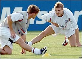 Michael Owen, David Beckham