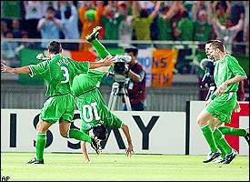 Robbie Keane, Ian Harte, Gary Green, Gary Kelly