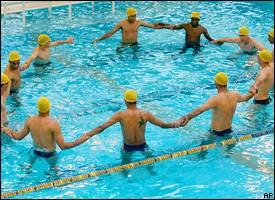 Brazilians in pool