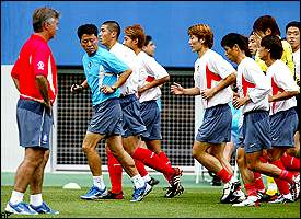 Guus Hiddink, South Korean players