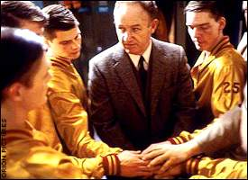 Inspiration from the coach (Gene Hackman) in one of the greatest hoops movies ever.