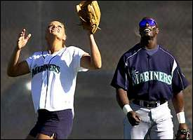 Jennie Finch and Mike Cameron
