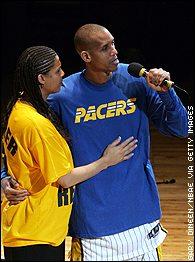Reggie Miller, Cheryl Miller