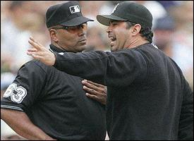 Ozzie Guillen and Laz Diaz