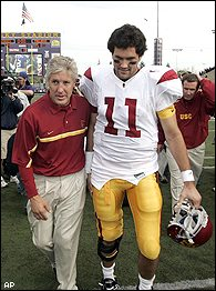 Matt Leinart and Pete Carroll