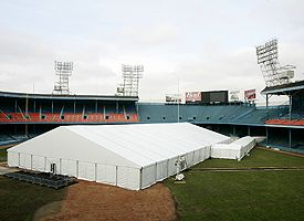 Tiger Stadium Bud Bowl tent