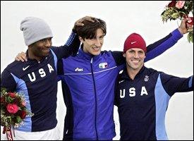 Shani Davis, Enrico Fabris & Chad Hedrick
