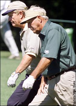 Jack Nicklaus and Arnold Palmer