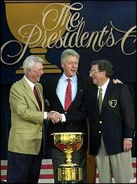 Ken Venturi, President Clinton, Peter Thomson