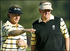 Bernhard Langer and Colin Montgomerie