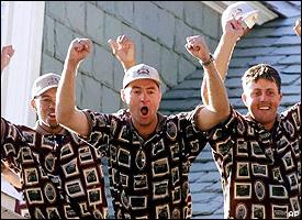 U.S. team celebrating