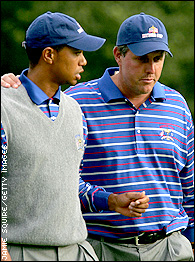 Mickelson and Woods