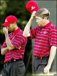 Tiger Woods and Davis Love III
