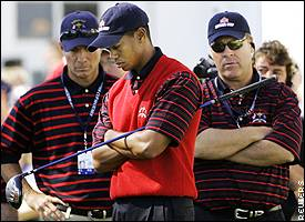 Tiger Woods and Hal Sutton