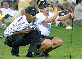 Tiger Woods and Annika Sorenstam