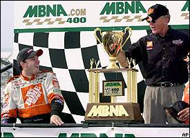 Tony Stewart and Joe Gibbs