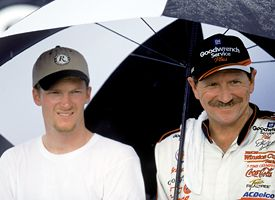 Dale Earnhardt Jr. and Dale Earnhardt Sr.