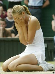 Maria Sharapova admits she was overwhelmed after last year's Wimbledon win.